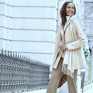 Simply Chic Diamond Wool Cream Full Swing Coat